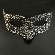 A personal favourite from my Etsy shop https://www.etsy.com/uk/listing/262911995/pewter-crystal-incognito-venetian-mask