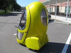 The three-wheeled electric vehicle is fitted with an electric hub motor in the front wheel...