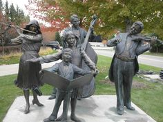 The Joy of Music sculpture, Dearborn, Michigan. There are about 21 of these statues in the United States.