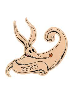 The Nightmare Before Christmas Zero Tattoo Sticker   Hot Topic