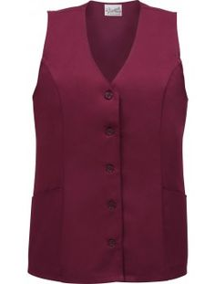 Female Tunic Vest, available in 3 colors. Features two waist pockets. Available in sizes S through Cobbler Aprons, Lab Coats, Smocking, Vest, Tunic, Restaurant, Pockets, Female, Toys