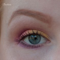 Yellow + pink eyeshadow