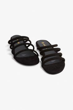 fcd9df8d61e Faux suede slip-on sandals - Black magic - Shoes