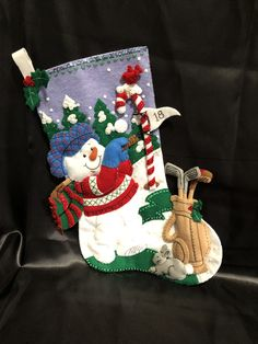 Your place to buy and sell all things handmade Felt Christmas Stockings, Felt Stocking, Diaper Cake Boy, Concept Shop, Felt Applique, Cakes For Boys, Santa Baby, Hand Stitching, Hand Sewing