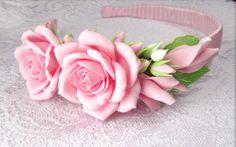 bridal flower headband for girl. wedding flower by FlowersofSharon, $27.00
