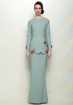 My Favourite Design Baju Kurung 2013 Malay Wedding Dress, Hijab Wedding Dresses, Muslim Fashion, Hijab Fashion, Fashion Outfits, Womens Fashion, Hijab Stile, Model Kebaya, Kebaya Muslim