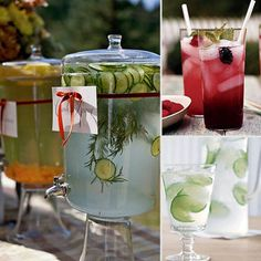 Nonalcoholic Cocktails- would be great for a baby shower!!