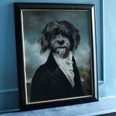Dexter will be immortalized wearing victorian men's garb in a fine oil painting as well.