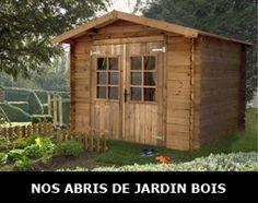 Cabanon de jardin en bois disponible à prix compétitif