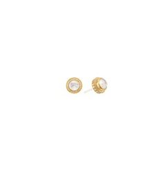 Anna Beck Quartz over Mother of Pearl Stud Earring, Available in Sterling Silver, $100.00 at Brown Goldsmiths