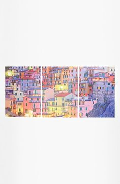 Maybe for my bedroom? Love the color. Cityscape Wall Art | Nordstrom