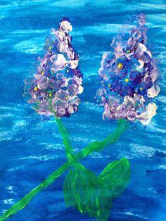 Materiale didactice de 10(zece): Flori de liliac-dactilopictură