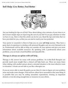 self-help-live-better-feel-better by Carrie Giaconia via Slideshare Document Sharing, Best Self, Carrie, Self Help, Feel Better, Fails, Feelings, Learning, Live