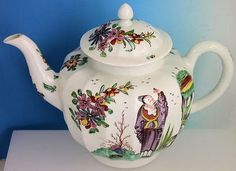 Chaffers Liverpool fluted Teapot c 1760