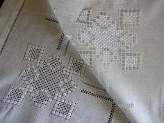 Hardanger Embroidery, White Embroidery, Cross Stitch Embroidery, Drawn Thread, Thread Work, Broderie Bargello, Brazilian Embroidery, Types Of Embroidery, Needful Things