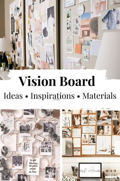 An essential tool to motivate yourself is to keep your goals in mind, and that wonderfully works with a vision board. It is a collection of words and images that motivate you, help you to believe in yourself and conjure up a smile on your face. I will give you ideas for your personal vision board and show you what you need to create it. #visionboardexamples #motivation #goalreminder #visionboardideasdiy #howtodoavisionboard #visionboardinspiration #makinavisionboard #goalboardideas #moodboard Digital Vision Board, Goal Board, Creating A Vision Board, Need Motivation, Daily Goals, Personal Goals, How To Stay Motivated, Motivate Yourself, Board Ideas