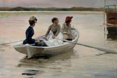 Girls in a Rowing Boat - Albert Edelfelt - The Athenaeum