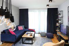 Kuchnia z wyspą - zobacz gotowy projekt wnętrza - Galeria - Dobrzemieszkaj.pl Sweet Home, Curtains, Home Decor, Decor Ideas, Living Room, Dots, Blinds, Decoration Home, House Beautiful