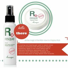 All the benefits of Annique's best selling Resque Mist, available in a vapour rub! This month only Vapour Rub, Medical Conditions, Allergies, Mists, Health And Beauty, Beauty Products, Conditioner, Join, Healing