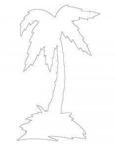 Palm Tree Scroll Saw Pattern