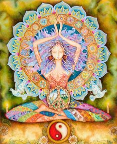 No Yoga, No Peace. Know Yoga, Know Peace. Yoga-Linda Yoga Mats, Towels, Accessories for every Yogi Sacred Feminine, Divine Feminine, Yoga Kunst, Yoga Studio Design, Psy Art, Goddess Art, Divine Goddess, Earth Goddess, Beautiful Goddess