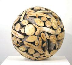 Roger Asay. Aspen Sphere  2006, Weathered aspen