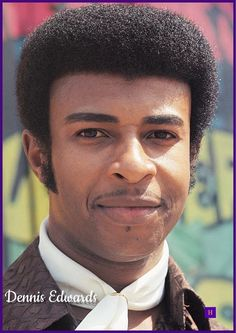 Dennis Edwards | February 3, 1943 - February 2, 2018. RIP ❤ Black Music Artists, Popular Music Artists, Music Icon, Soul Music, Dennis Edwards, Soul Singers, Old School Music, African American Artist, Popular People