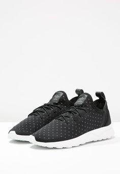 adidas Originals ZX FLUX ADV VIRTUE SOCK - Sneaker low - core black/white - Zalando.de