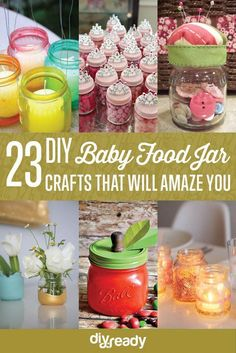 23 Clever DIY Uses of Baby Food Jars | Upcycle And Repurpose Ideas at http://diyready.com/diy-uses-of-baby-food-jars/