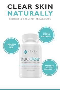 Looking for an affordable and safe way to clear your skin? TrueClear is the answer. By utilizing quality natural ingredients, our skin clarifying vitamins help clear and prevent moderate to sever pimples & breakouts. Click Here to learn more...