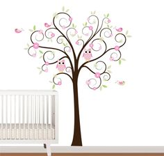 Children Curl Tree Vinyl Wall Decal with Pattern by NurseryWallArt, $89.99