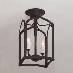 "Gothic Arch Iron Ceiling Light ""W)      Product SKU: FM09004 BK  Price:  $175.00  from shadesoflight.com"
