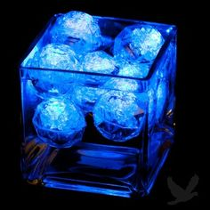 Underwater LED Lights - LED Floating Diamond Spheres - very inexpensive way to illuminate your floral centerpieces.