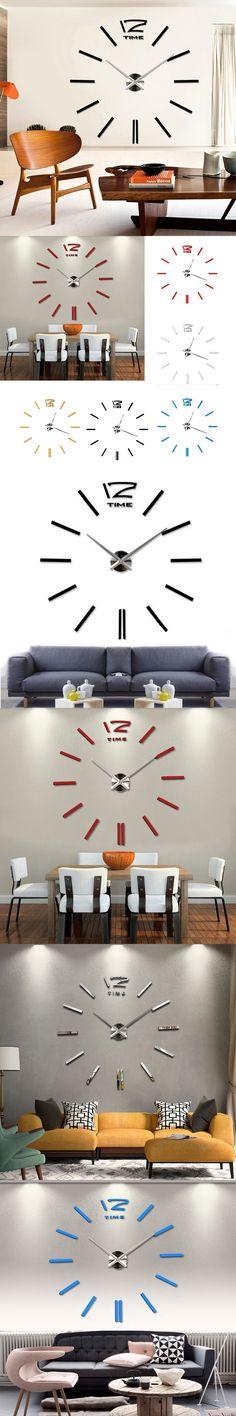 2016 new home decor wall clock European oversized living room modern minimalist fashion DIY Wall Art $28.51