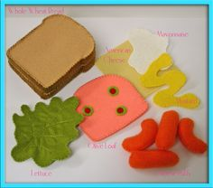 Wool Felt Play Food - Sandwich Set - Waldorf Inspired Pretend Kitchen or Market Accessory for Imaginative Play. $41.00, via Etsy.
