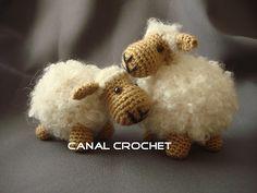 Amigurumi Tutorial Snoopy : Ovejas puff como pomponcitos : tejidas a crochet. amigurumi
