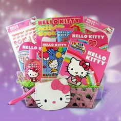 Hello Kitty Toiletry Gift Basket Ideal for Christmas Gifts for Girls: Christmas Gifts Get Well Gift Baskets, Valentine's Day Gift Baskets, Themed Gift Baskets, Fundraiser Baskets, Raffle Baskets, Birthday Basket, Birthday Gifts, Birthday Ideas, Christmas Gifts For Girls