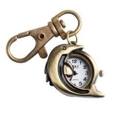 Yesurprise Dolphin Cute Cool Bronze Quartz Pocket Watch Key Ring Chain Yesurprise. $6.67