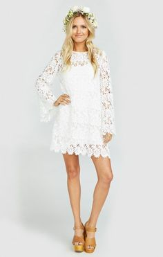 Love Story Lace Dress ~ White | Show Me Your MuMu