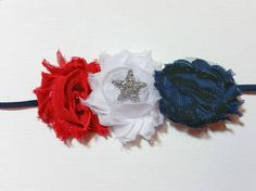 4th of july headband  4thh of July hair bow  Redwhiteblue   Use promo code PINTEREST for a special discount.