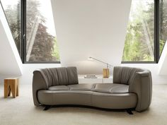 The sofa by deSede allows you to change your seating orientation by simply rotating the two backrests 360 degrees. On display at Mobili Mobel. Sofa Design, Interior Design, Lounge Sofa, Sofa Set, Sofa Furniture, Furniture Design, Interior Room Decoration, Home Decor, Room Interior