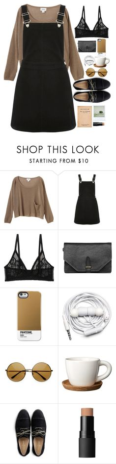 """Untitled #2785"" by wtf-towear ❤ liked on Polyvore featuring Monki, Oasis, 3.1 Phillip Lim, Case Scenario, Urbanears, Höganäs Ceramic, Cole Haan, Polaroid and NARS Cosmetics"