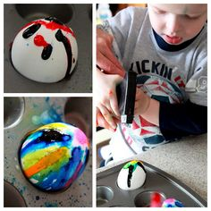 Henry's First Egg Decorating | hands on : as we grow
