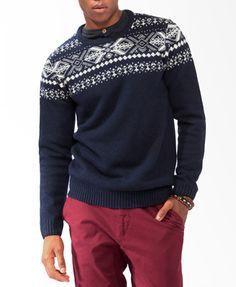 Wool-Blend Fair Isle Sweater | 21 MEN - 2031556856