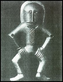 """This carving was found in Kiev, Ukraine. It is approx 6,000 years old (4,000 BC). Given the context of where and when it came from, it is very difficult to explain this carving as not being of something """"other worldly"""", looking a lot like a spacesuit."""