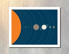 Scale of the Solar System Art Print No.1 wall art by TildeStudios