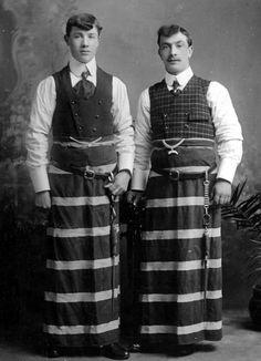 Tour Scotland Photographs: Old Photograph Butchers Falkirk Scotland