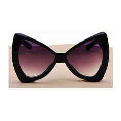 Lunettes de soleil, OVERSIZED Sunglasses BLACK BUTTERFLY LADY GAGA BOW est une création orginale de FeverVintage sur DaWanda
