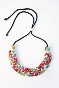 RMIT Link – Sherbert necklace • See more at The Big Design Market on 6/7/8 December 2013 – Royal Exhibition Building, Melbourne.