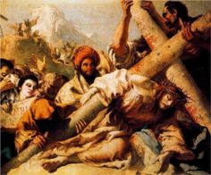 Ninth Station: Jesus Falls a Third Time  ~~Artist:Giovanni Domenico Tiepolo, 1772~~